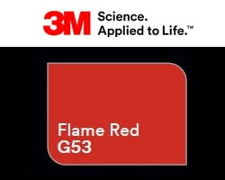 Folia 3M 2080-G53 Flame Red Gloss 152cm