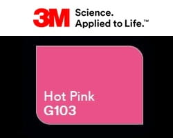 Folia 3M 2080-G103 Hot Pink Gloss