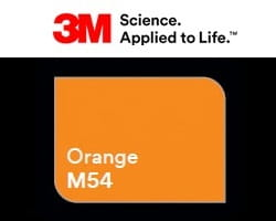 Folia 3M 2080-M54 Orange Mat 152cm